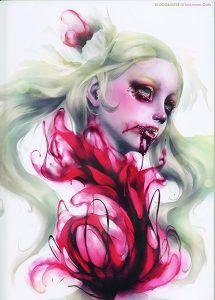SBRGENk art book, cover, blood, young girl, dark art