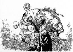 Richard A. Kirk, black and white drawing, dark art